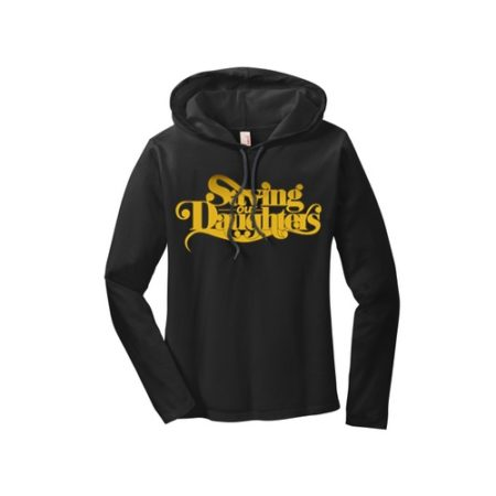 ladies-black-hoodie-gold